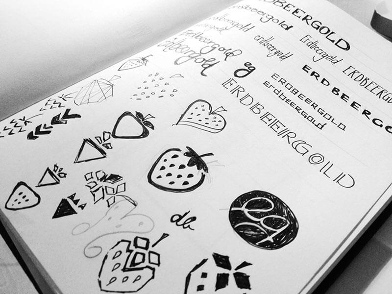 Logoentwürfe von erdbeergold